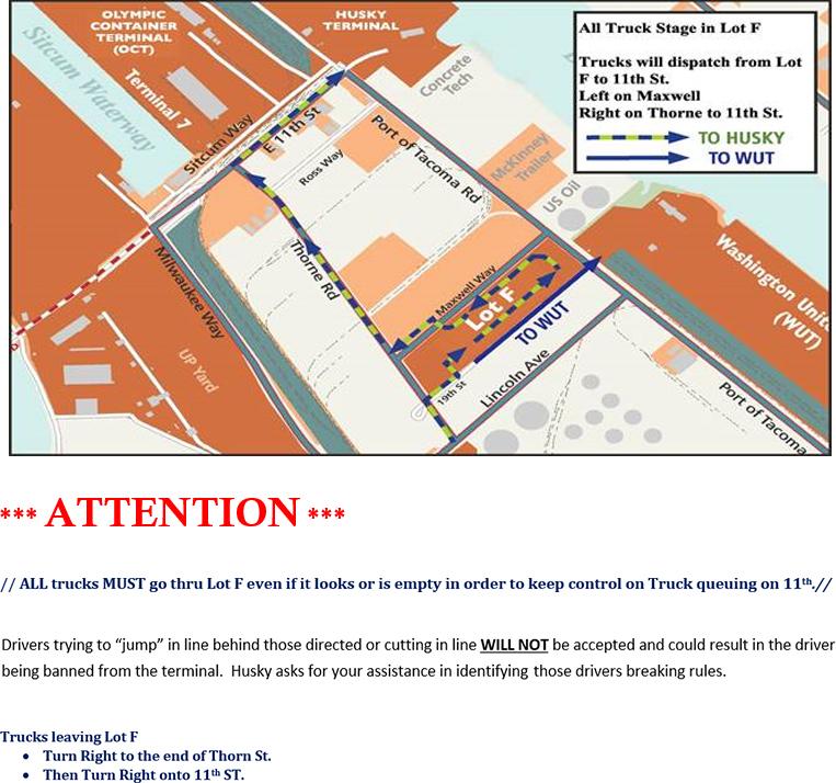 Yard Map – Husky Terminal & Stevedoring, Inc Yard Map on